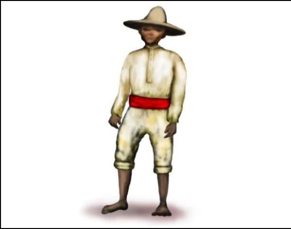 Vestimenta baldeana masculina